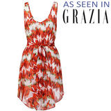 Chilli Print Chiffon Dress